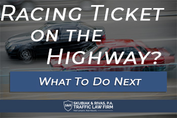 Racing on the highway ticket