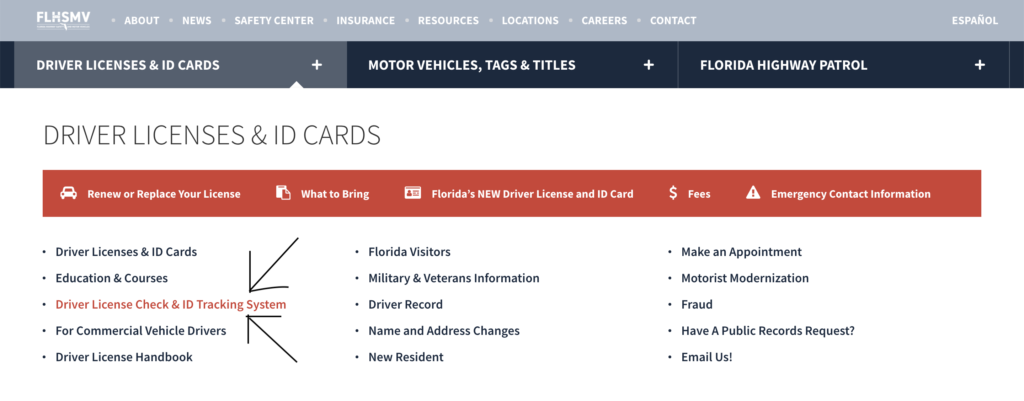 Driver License Check & ID Tracking System